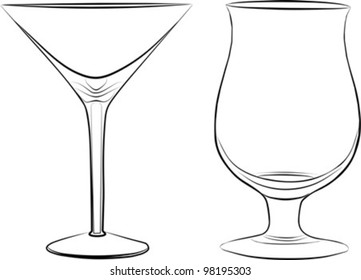 red wine glass red rose flower stock illustration royalty free White Wine two glass of drink freehand on a white background vector illustration