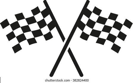 Two goal flags
