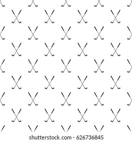 Two golf clubs pattern seamless in simple style vector illustration