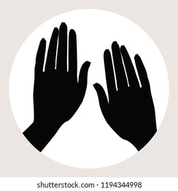 Two hands gesture icon.