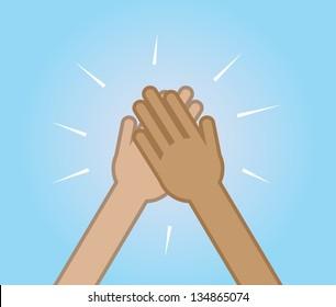 high five hand images stock photos vectors shutterstock