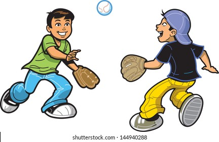 Kids Throw Ball Cartoon Images, Stock Photos & Vectors | Shutterstock