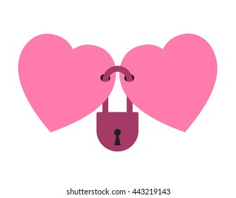 two hearts locked together forever