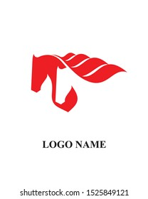 Two horse icon vector logo template sign symbol icon for business. company and employment. - Shutterstock ID 1525849121