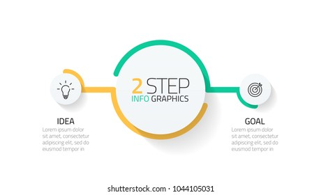 Two infographics element. Business concept with 2 options, steps or processes. data visualization. Vector illustration.