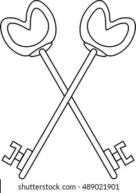 Two Keys, Jewel of Treasurer for Blue Lodge Freemasonry