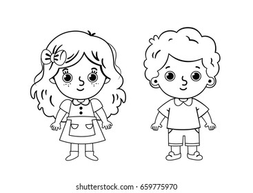 Girl Coloring Pages Images Stock Photos Vectors Shutterstock