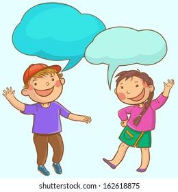 Conversation Kid Images, Stock Photos & Vectors | Shutterstock