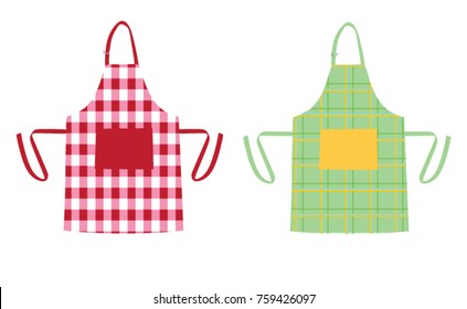 Two kitchen aprons with patterns