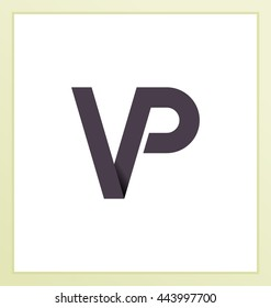 Two letter composition for initial, logo or signature started by V letter