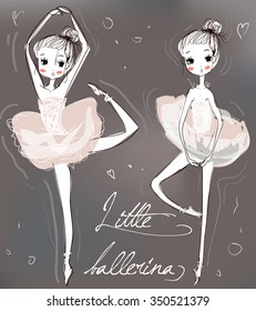 two little cute ballerinas