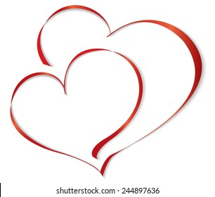 Two lovers heart. Vector illustration