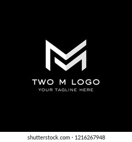 Two M letters logo