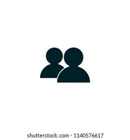 Two men, avatar, profile vector icon