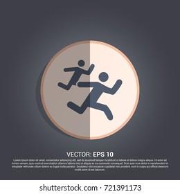 two men running icon