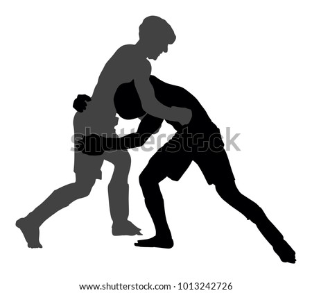 Two mma fighters vector