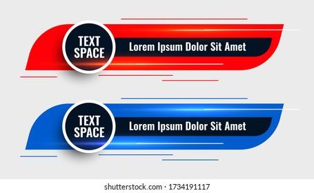 two modern lower third template design banner