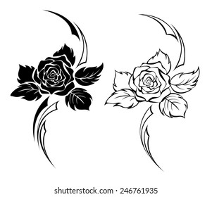 Tribal Rose Images Stock Photos Vectors Shutterstock