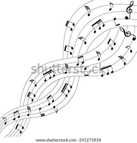 Two Musical Chords Intertwined On White Stock Vector Royalty Free