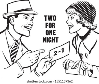 Two For One Night - Couple With Discount Coupon