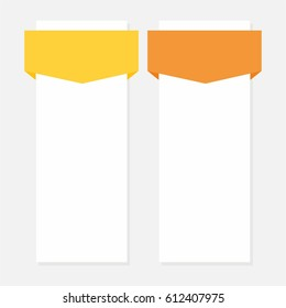 Two options vector infographics template