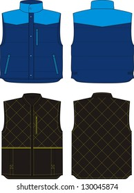 Two options of the warmed vests for men