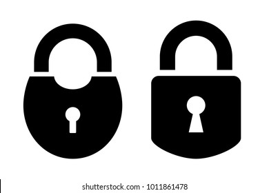 Two padlock vector icon isolated on white background