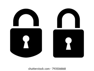 Two padlocks vector icon illustration isolated on white background