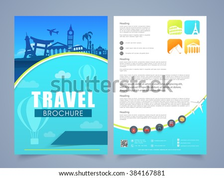 two page brochure template flyer design stock vector royalty free
