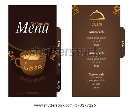 two pages restaurant menu stock vector royalty free 370177226