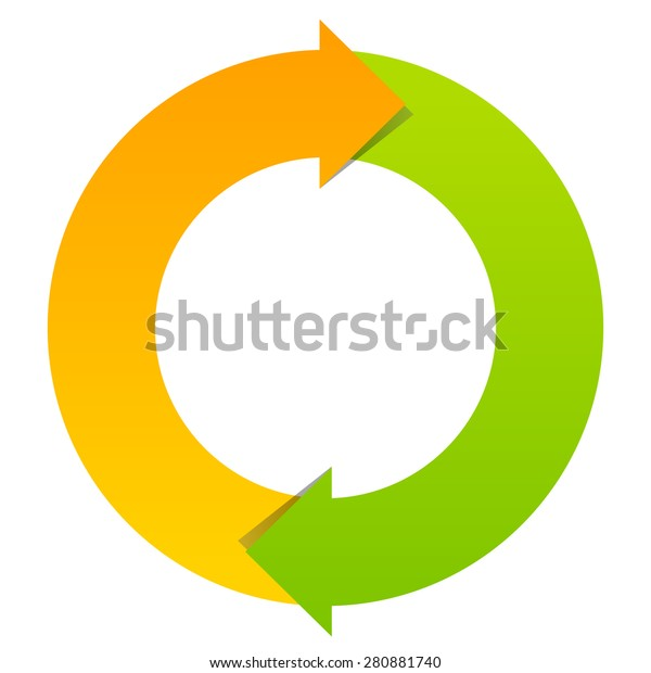 Two Part Cycle Diagram Stock Vector  Royalty Free  280881740