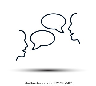 Two people are talking, people's conversation, chatting, discussion, negotiations, dialogue, interlocutors, communication - stock vector