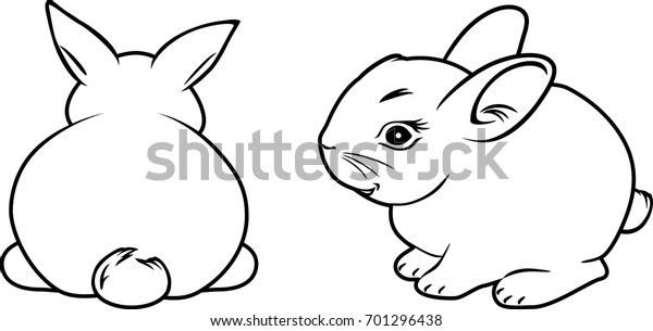two-rabbits-contour-drawing-vector-600w-