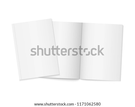 two realistic blank books vertical brochure stock vector royalty
