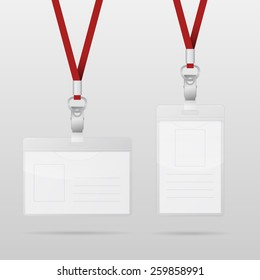 Set Of Lanyard And Badge Images, Stock Photos & Vectors | Shutterstock