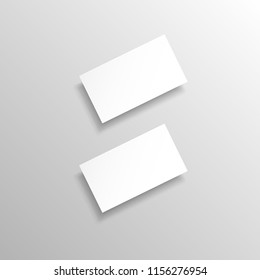 Two realistic vector business cards. Mock Up template.