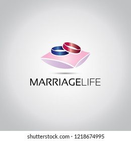 Two Rings Marriage Logo