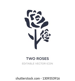 two roses icon on white background. Simple element illustration from Nature concept. two roses icon symbol design.