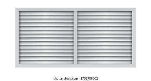 Two section plastic air vent. Wall ventilation grate. Exhaust and supply ventilation system. Room conditioner element.