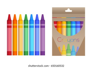 two sets of crayons one inside a box and other separated colors