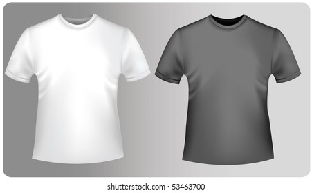 Two shirts. Photo-realistic vector illustration.