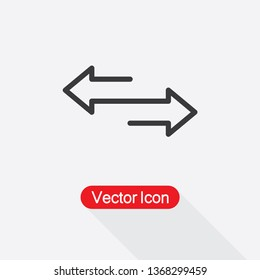 Two Side Icon Vector Illustration Eps10