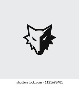 two side wolf logo