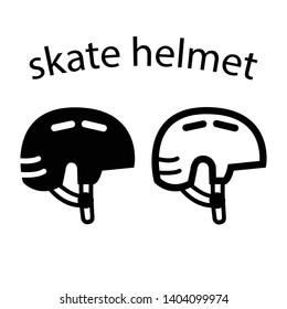two skateboard or bike helmet icon