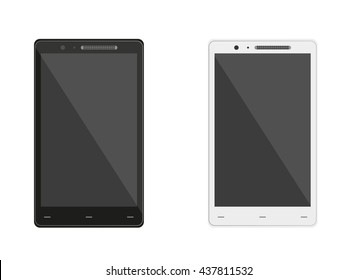 Two Smart Phones On White Background