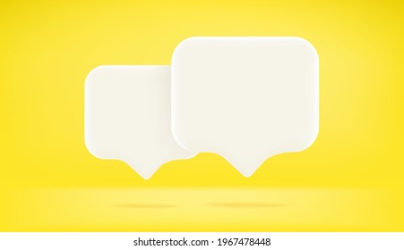Two speech bubbles with copy space. Dialog concept