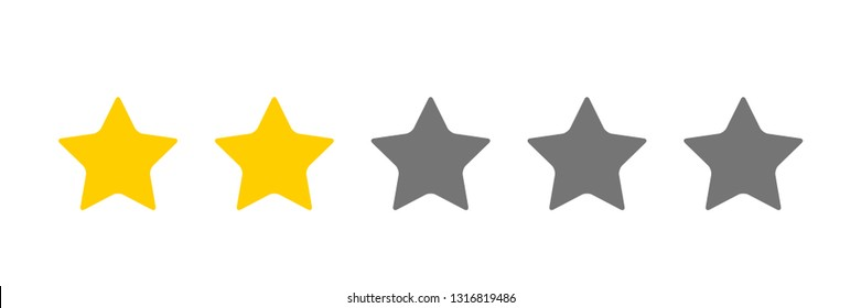 two stars icon  Vector
