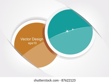 Two stickers. Vector