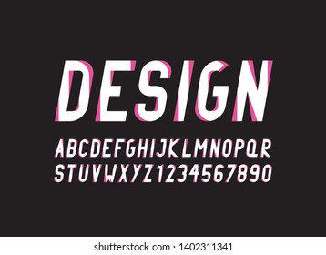 two styles vector of stylized   font and alphabet