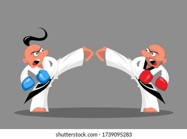 Zwei Taekwondo-Kämpfer im Ring